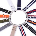 18 20 22mm Nylon Military Army Wrist Watch Band Replacement Durable Sport Strap image