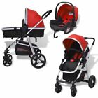3 IN1 Baby Pram Stroller Pushchair Car Seat Carrycot Travel System Buggy Durable