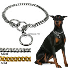 Dog Metal Chain Collar Check/Choke Training Slip Necklace for Pitbull Heavy Duty