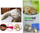 4-40 Tabs New Bayer Drontal for Cats & Kittens Tapeworm Deworming USA Seller