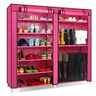 Large Capacity Shoes Storage Cabinet Double Rows Shoes Organizer Rack Home Furni