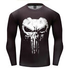 Mens Marvel Superhero Long Sleeve T-shirt Compression Armour Base Layer Top