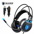 Gaming Headphones Virtual 7.1 Surround Sound Gamer Headset Over-ear USB Computer