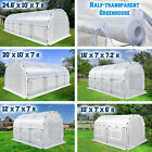 Half Transparent Larger Walk-In Plant Hot Greenhouse Garden Outdoor w ABS Clamps