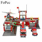 774Pcs Fire Station Truck Helicopter Firefighter Minis Building Blocks Bricks