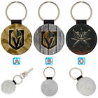 Vegas Golden Knights Leather Glitter Key Chain Ring Gift Silver Car $3.99 USD on eBay
