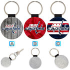 Washington Capitals Leather Glitter Key Chain Ring Gift Silver Car $3.99 USD on eBay