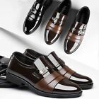 Mens Pointed Toe Leather Shoes Dress Oxfords Work Brogue Wedding Loafers Formal
