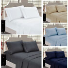 NEW Cozy Cover Flat Sheet Pillowcases 4 PACK Bedding Set Home Decor Best Gift image
