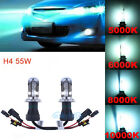 2pcs Conversion HID Headlight Bi-Xenon Bulbs 3K 5K 6K 8K 10K H4 Hi-Lo DC 55W $21.31 CAD on eBay