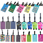 Suitcase Luggage Tags Name Address ID Address Holder Silicone Identifier Label