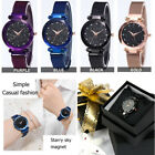 Ladies Watch Starry Sky Diamond Dial Women Bracelet Watches Magnetic Stainless image