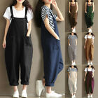 UK Womens Overalls Loose Dungarees Ladies Cami Romper Baggy Playsuit Jumpsuit