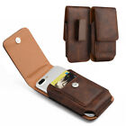 For Alcatel Idol 4S - Leather Belt Clip Pouch Holster Carrying Phone Case Cover