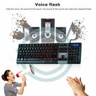 LESHP Wired Illuminated Computer Keyboard 3 Adjustable Colors With Backlight MY