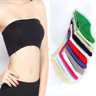 White Skin Black Ladies Strapless Crop Top Vest Bra Bandeau Boob Tube Brassiere