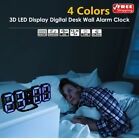 NEW 24/12 Display 3D LED Display Digital Desk Wall Alarm Clock For Home/Office