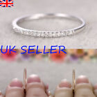 New Sterling Silver Engagement Wedding Crystal Band Ring Women Jewelry Size 6-10