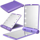 Folding Mini 8 LED Makeup Mirror Lighted Compact Pocket Mirror Cosmetic Beauty