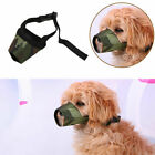 US Pet Dog Puppy Mouth Cover Muzzle Adjustable Anti Bite Chew Barking Breathable