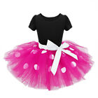 Kids Girls Baby Minnie Mouse Birthday Party Tutu Tulle Dress Headband Outfits