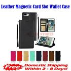 Leather Magnetic Card Slot Wallet Flip Case For Iphone 7 & 8 Plus (5.5