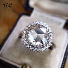 Women 925 Silver White Gemstone Rings Bridal Wedding Engagement Jewelry Size6-10