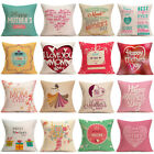 New Mother's Day Pillow Case Gift MOM Decorative Throw Cotton Cushion Cover 18'' image