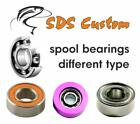 #1 FOR SHIMANO ABEC-7 SPOOL / SEE MODEL LIST / STAINLESS STEEL BEARINGS