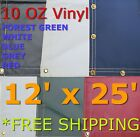 12' x 25' 10 Oz. Vinyl Waterproof Tarp - Truck Trailer Equipment Cover
