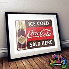 Coca Cola Poster A3 A4 Retro Bar Signs Cafe Signs Retro Bar Art £3.99  on eBay
