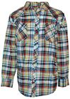 Western Shirt for Men- Big & Tall, Casual, Long Sleeve, Plaid with Pearl Snaps