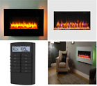 Holbeck Wall Mounted Electric Fire, White Flat Glass with Remote Control....