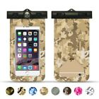 Lot * Camouflage Universal Cover Waterproof Phone Bag Case Swim Waterproof Pouch