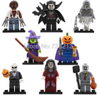 Halloween Lego Figure Skeleton Jack Witch Zombie Ghosts Pumpkin Man Werewolf