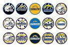 """NFL Los Angeles Chargers PRE CUTS or DIGITAL SHEET 1"""" Circle Bottle Caps $4.5 USD on eBay"""