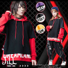 street swag urban squad Clashing color layered look baggy hoodie【J1R4002】