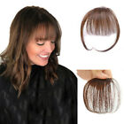 Thin Neat Air Bangs 100% Human Hair Clip in Front Fringe Hair Pieces Wispy Bangs