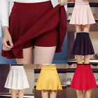 New Girl Skater Skirt Pleated Flared A Line Circle Elastic Stretch Waist Fashion
