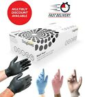 Black Nitrile Disposable Gloves Powder Free Tattoo Car Valeting Mechanic Food