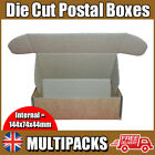 Brown Die Cut Folding Lid Postal Cardboard Boxes Small Parcel Cartons UK (T60)