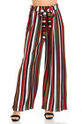 Aulin  Collection Womens Accordion Pleated High Waisted Wide Leg Palazzo Pants