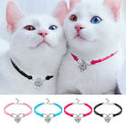 Soft Kitten Collars for Cats Suede Leaher Cat Necklace with Heat Pendant