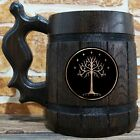 Tree Of Gondor Wooden Beer Mug, Lord Of The Rings Beer Gift, Hobbit Mug, LOTR