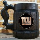 New York Giants Wooden Beer Mug, American Football Engraved Beer Gift for Fan $26.99 USD on eBay