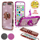 iPod Touch 6 Case Cute Girls Glitter Bling Sparkle Ring Case for iPod 5/6th Gen
