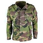 Original vintage Slovakian army field jacket M97 military combat parka camo NEW