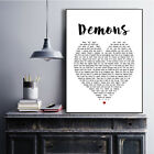 Demons Heart Song Lyric Quote Print
