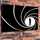 James Bond 007 Print Silhouette Printed Box Canvas Picture Multiple Sizes. £25.99 GBP on eBay