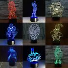Marvel Superhero  3D Acrylic LED  Night Light Touch Table Desk Lamp Gift